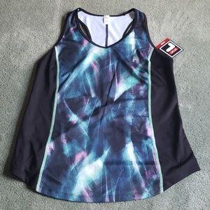NWT Fila Sz L black/mint/purple tank top